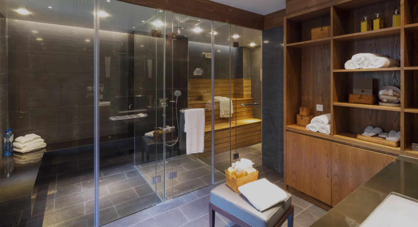 Residential steam room and sauna